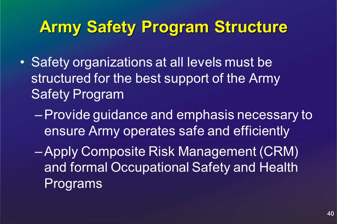 importance in safety in the army Roles and responsibilities of the director of army safety and otherkey players in the army safety program can be found in whatdocument.