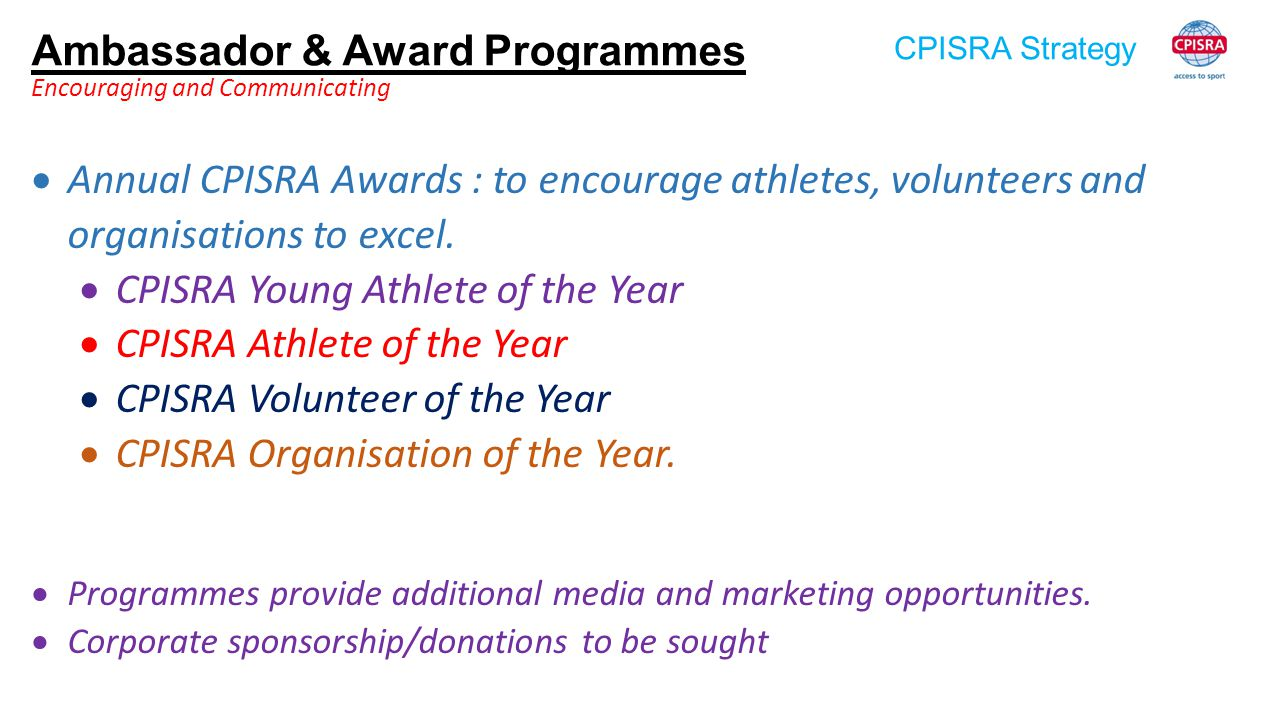 Ambassador & Award Programmes
