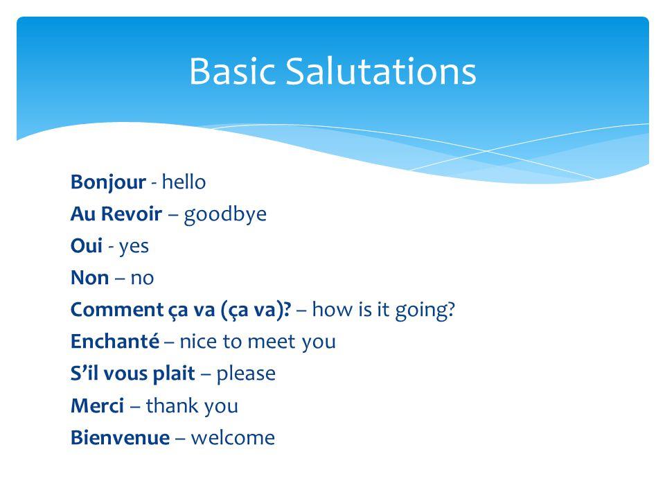 Basic Salutations