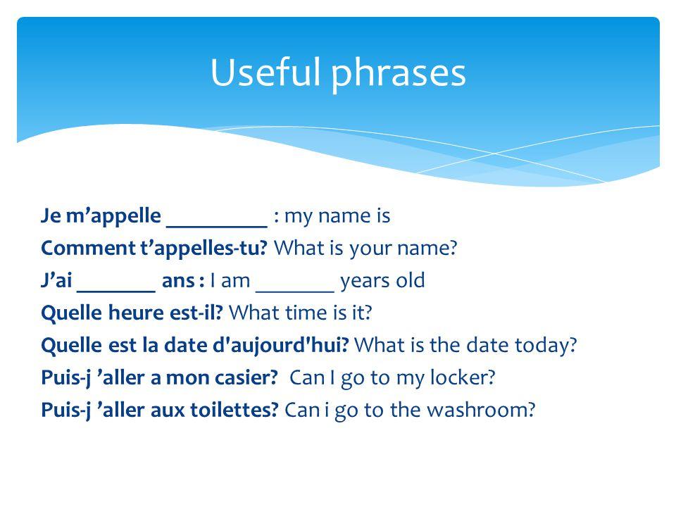 Useful phrases