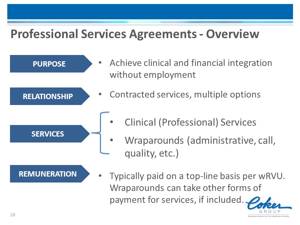 Professional Services Agreements - Overview