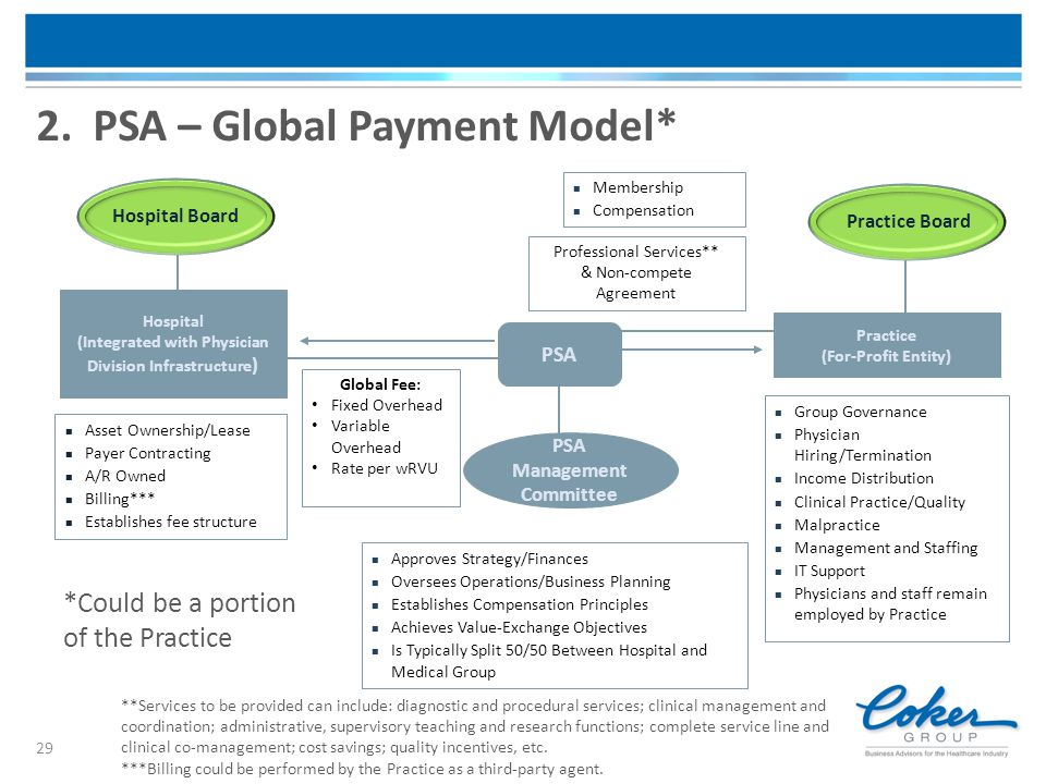 2. PSA – Global Payment Model*