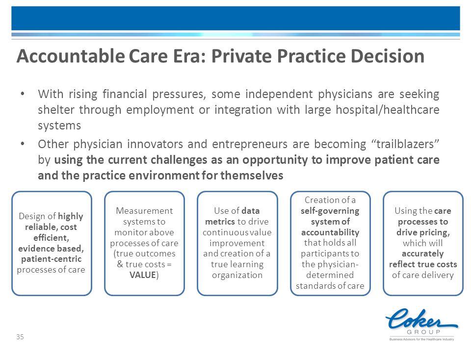 Accountable Care Era: Private Practice Decision