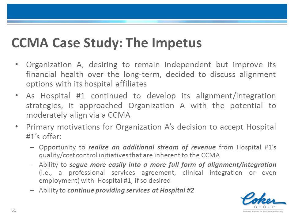 CCMA Case Study: The Impetus