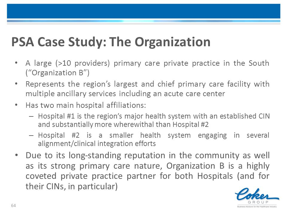 PSA Case Study: The Organization