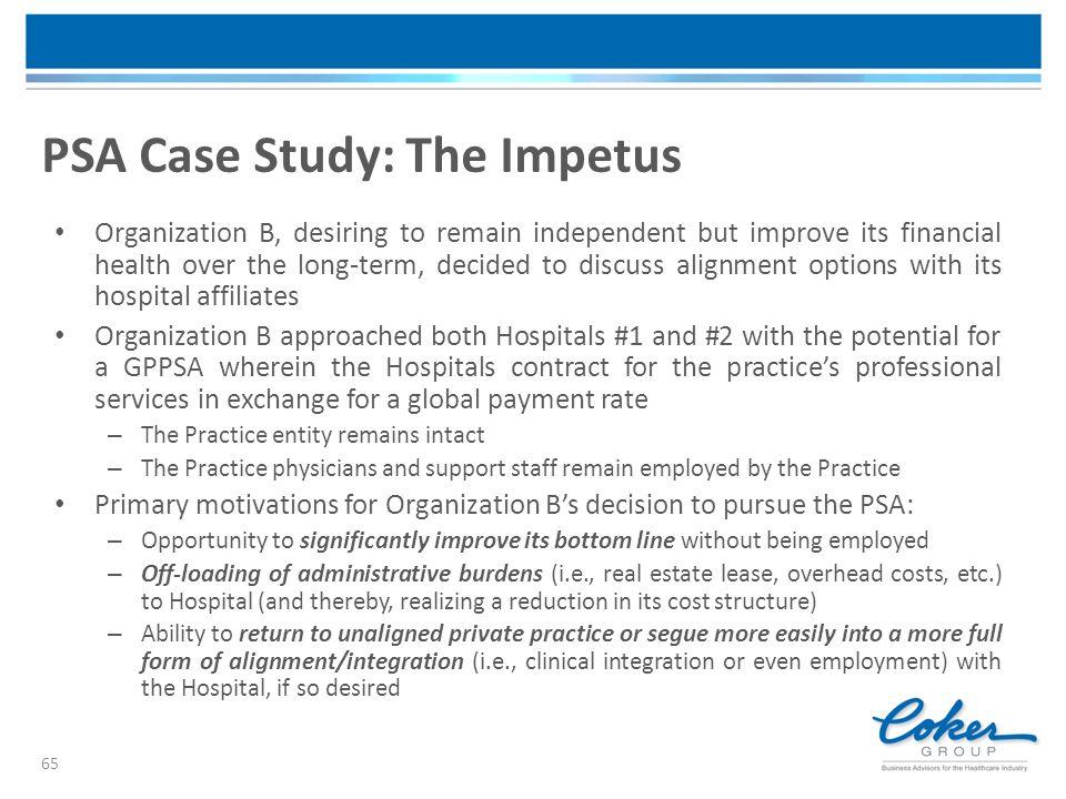 PSA Case Study: The Impetus