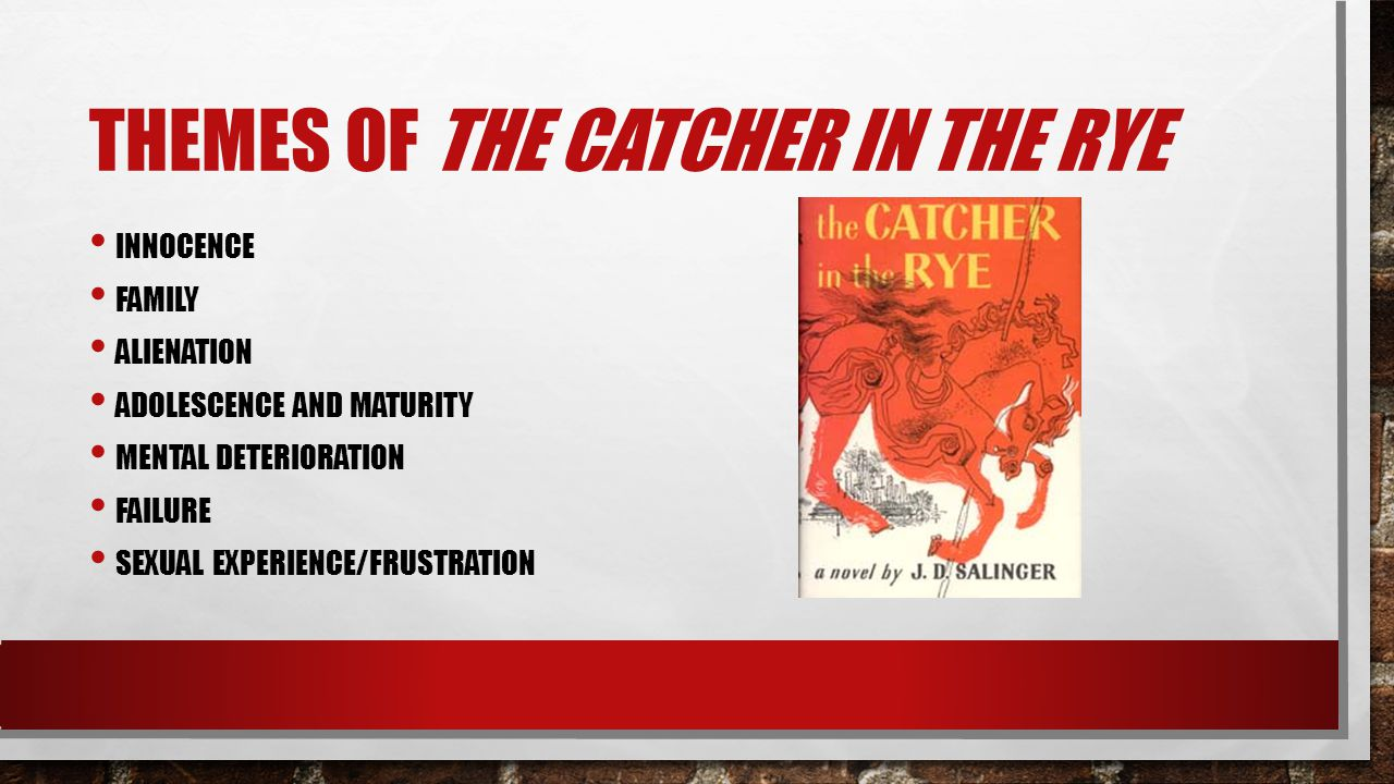 an analysis of the theme in the catcher in the rye by jd salinger Essay on catcher in the rye theme anchor luke:  personal opinion and analysis on the catcher in the rye  catcher in the rye, jd salingermy most favorite book.