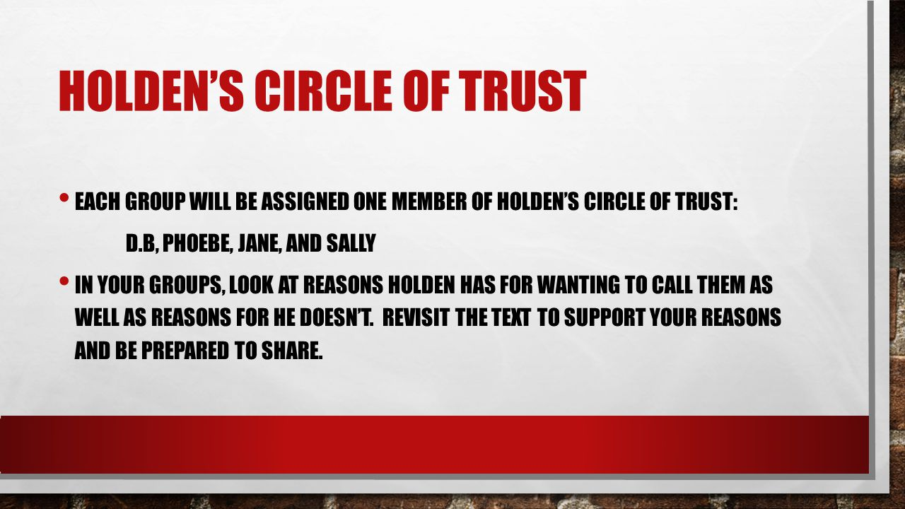 Holden's circle of trust
