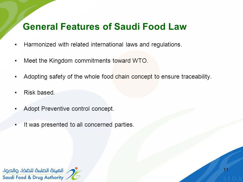 General Features of Saudi Food Law