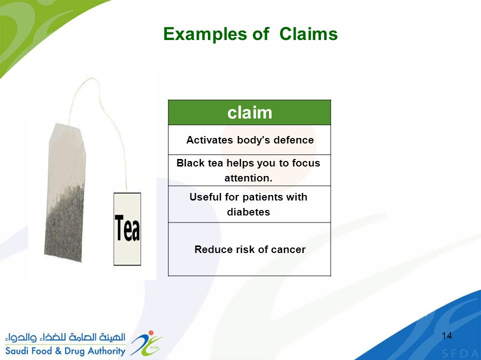 claim Examples of Claims Activates body s defence