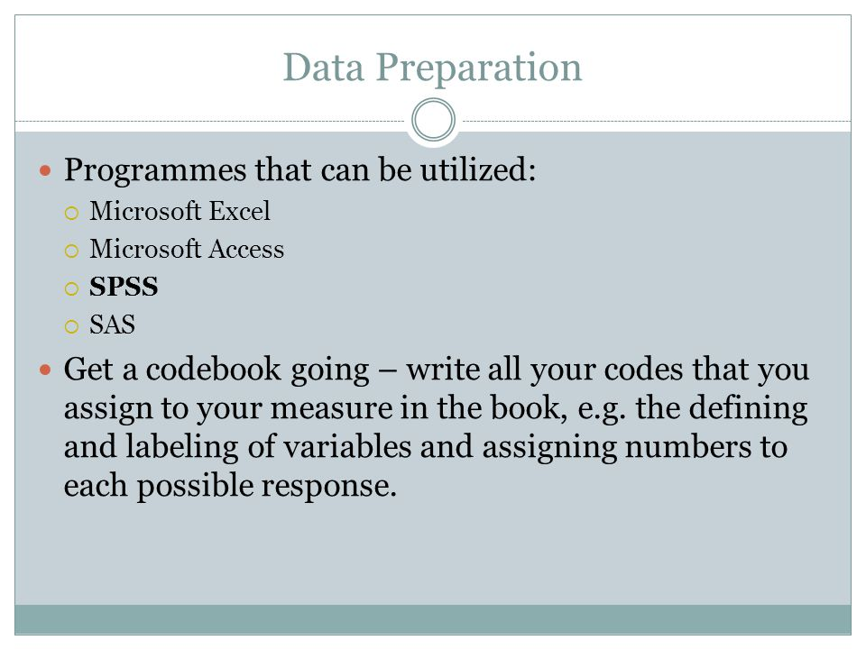 Data Preparation Programmes that can be utilized: