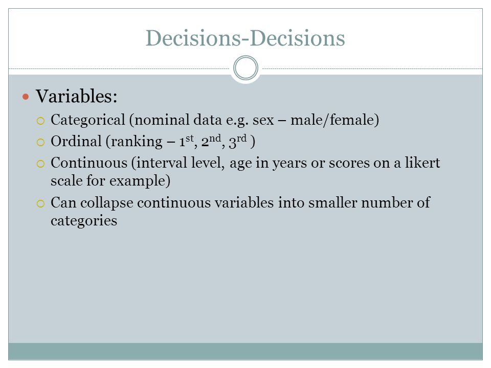 Decisions-Decisions Variables: