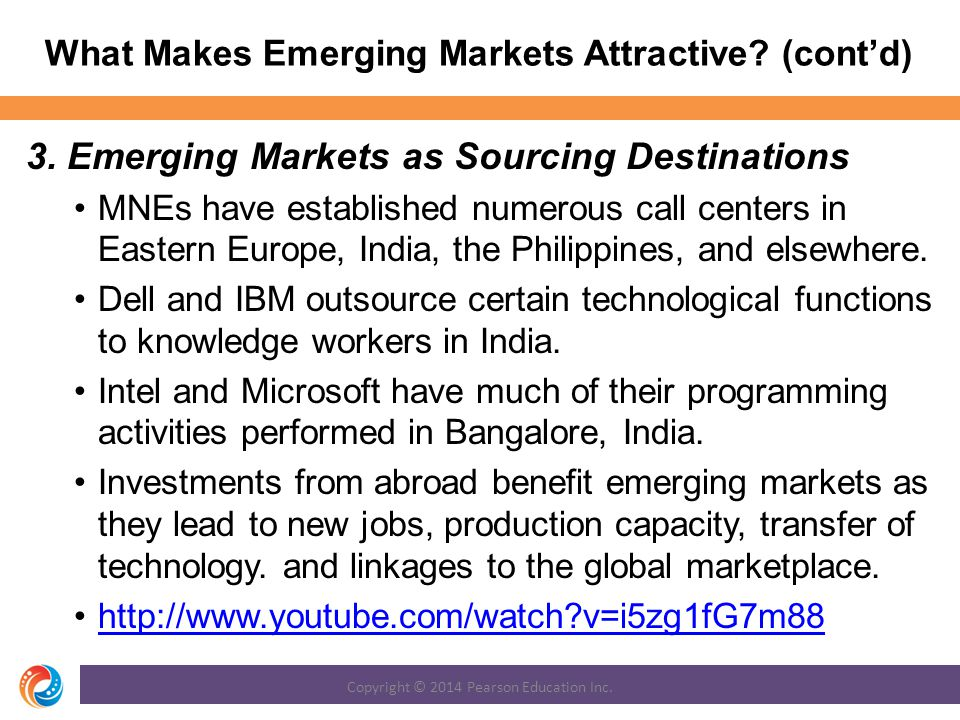 What Makes Emerging Markets Attractive (cont'd)