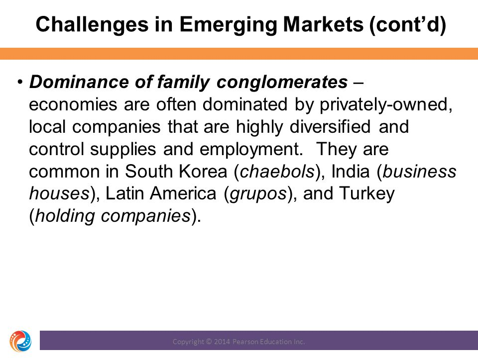 Challenges in Emerging Markets (cont'd)