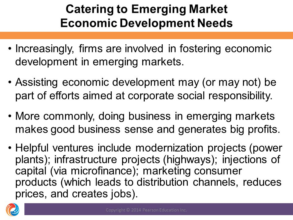 Catering to Emerging Market Economic Development Needs
