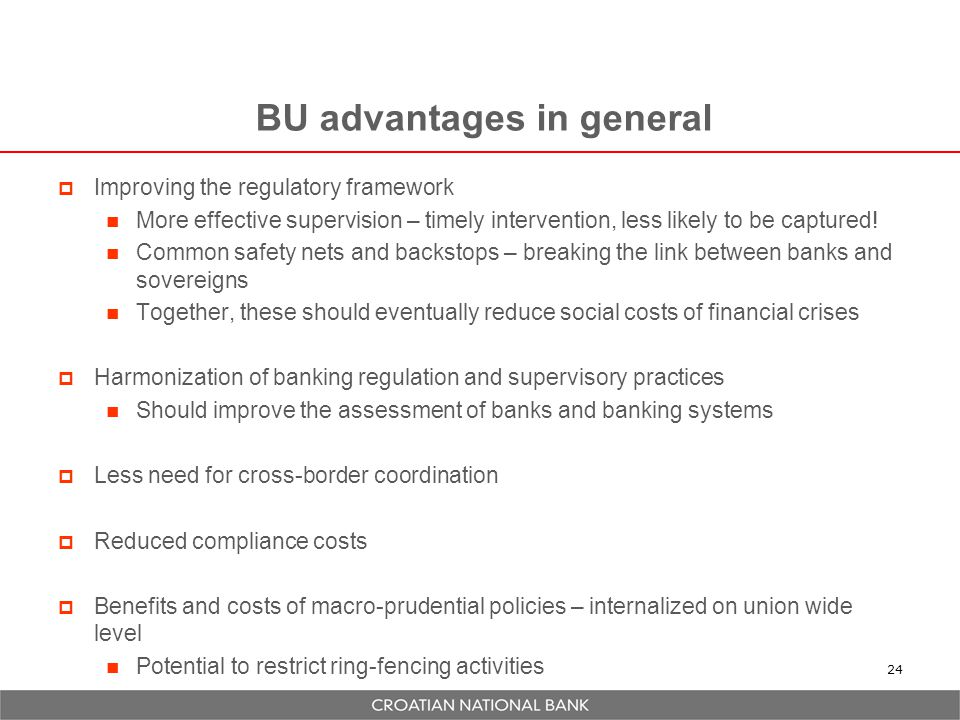 BU advantages in general