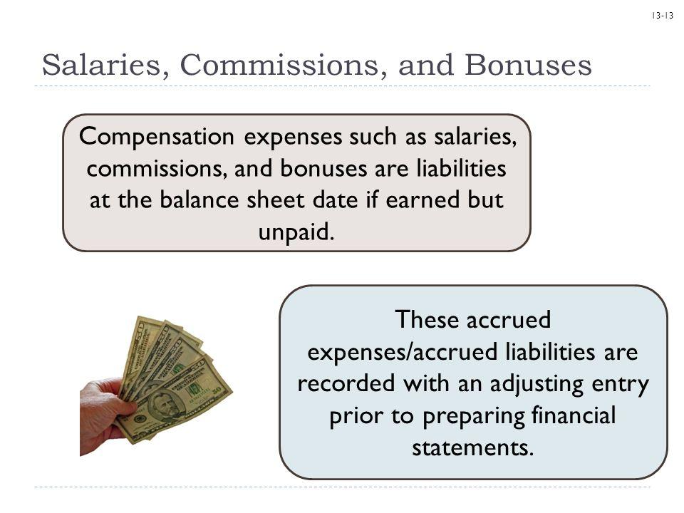 Salaries, Commissions, and Bonuses