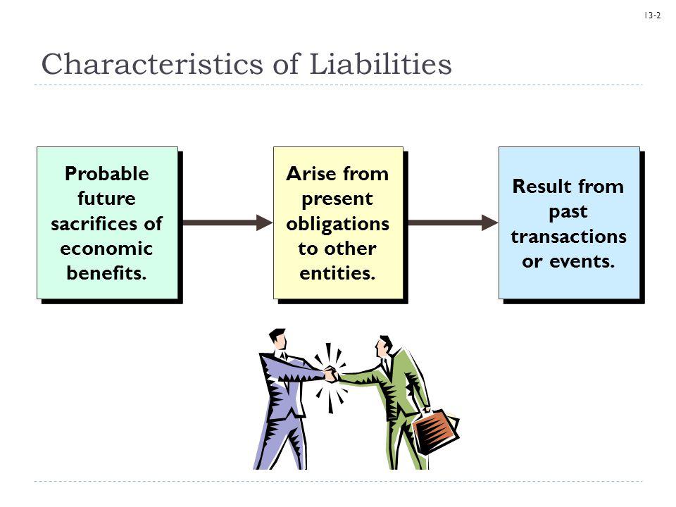 Characteristics of Liabilities