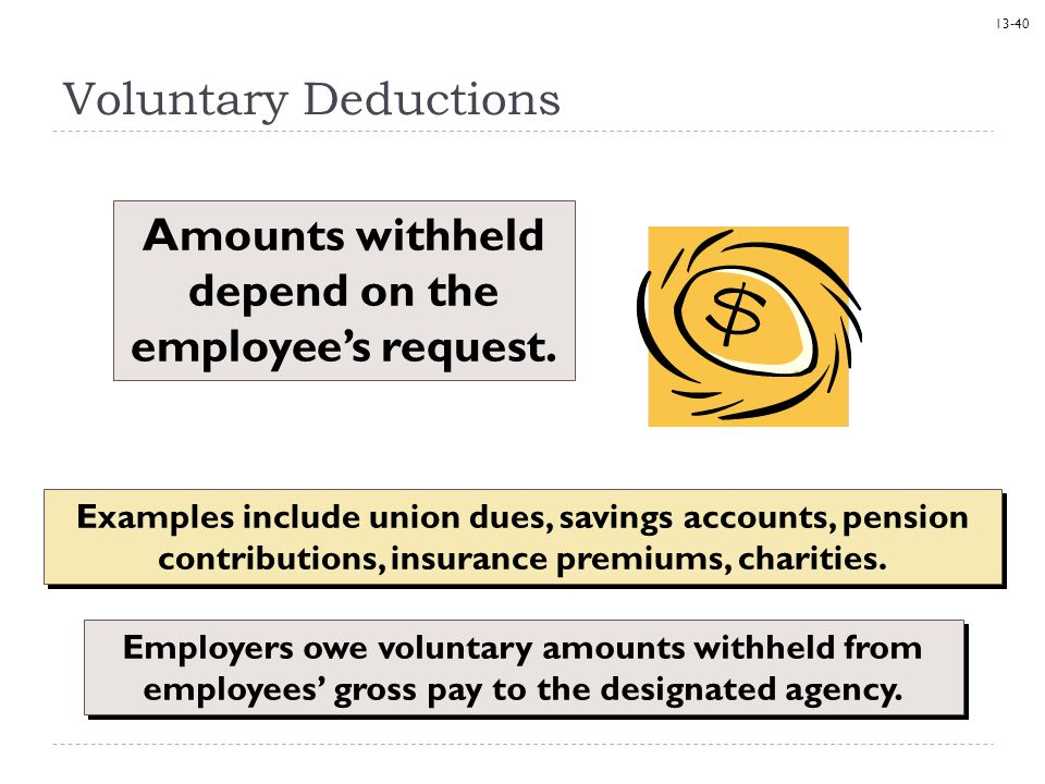 Amounts withheld depend on the employee's request.