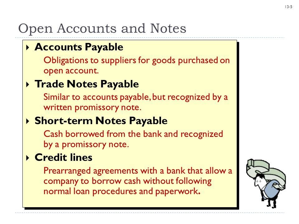 Open Accounts and Notes