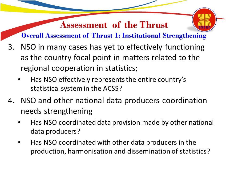 Assessment of the Thrust