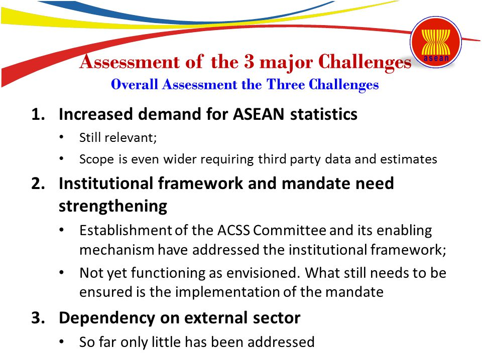 Assessment of the 3 major Challenges