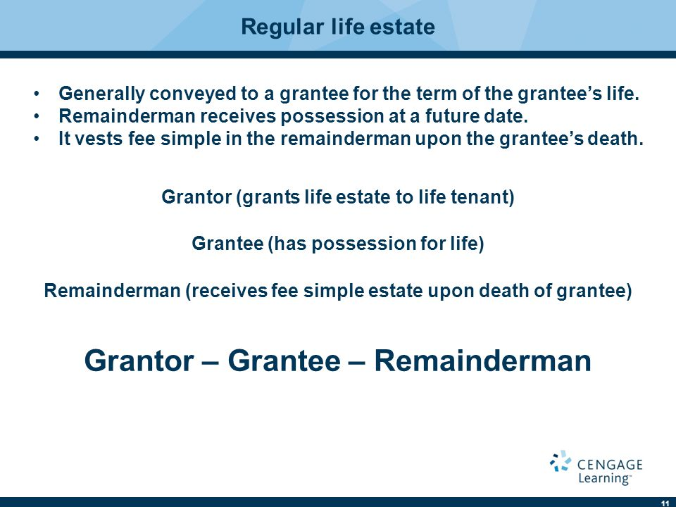 Grantor – Grantee – Remainderman