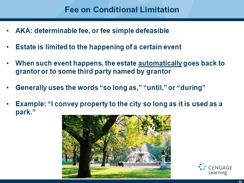 Fee on Conditional Limitation