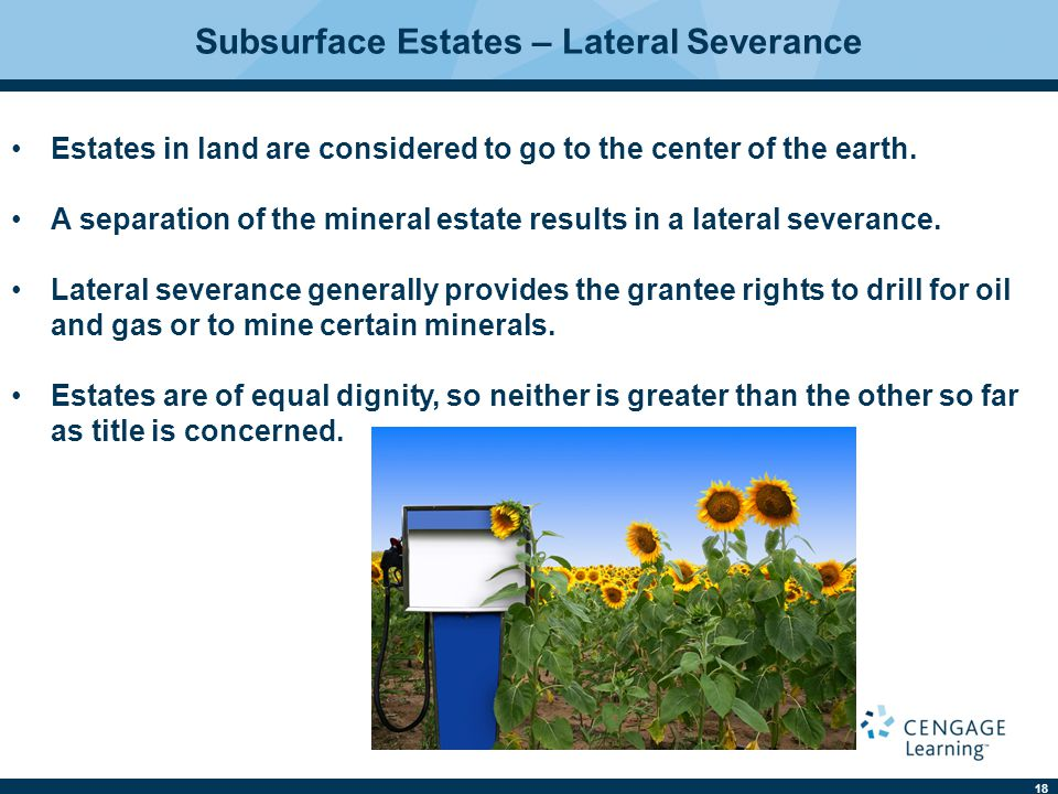 Subsurface Estates – Lateral Severance