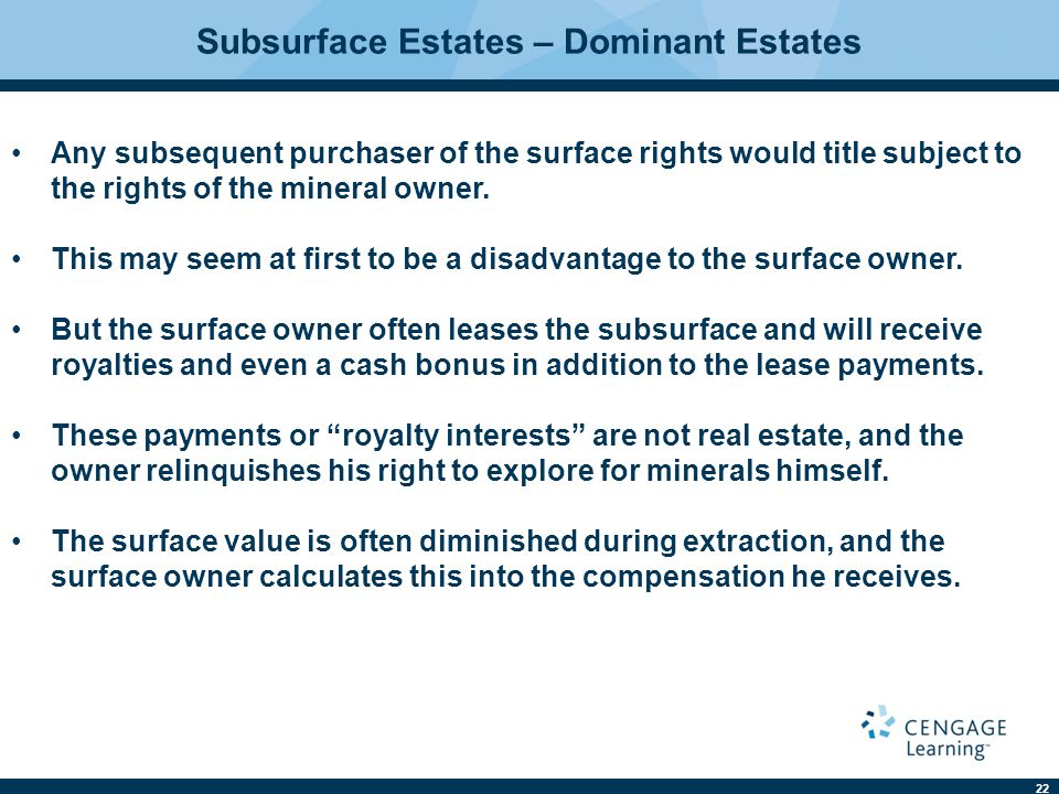 Subsurface Estates – Dominant Estates