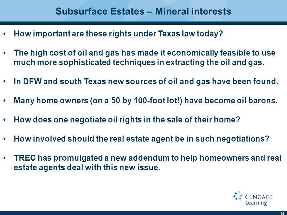 Subsurface Estates – Mineral interests