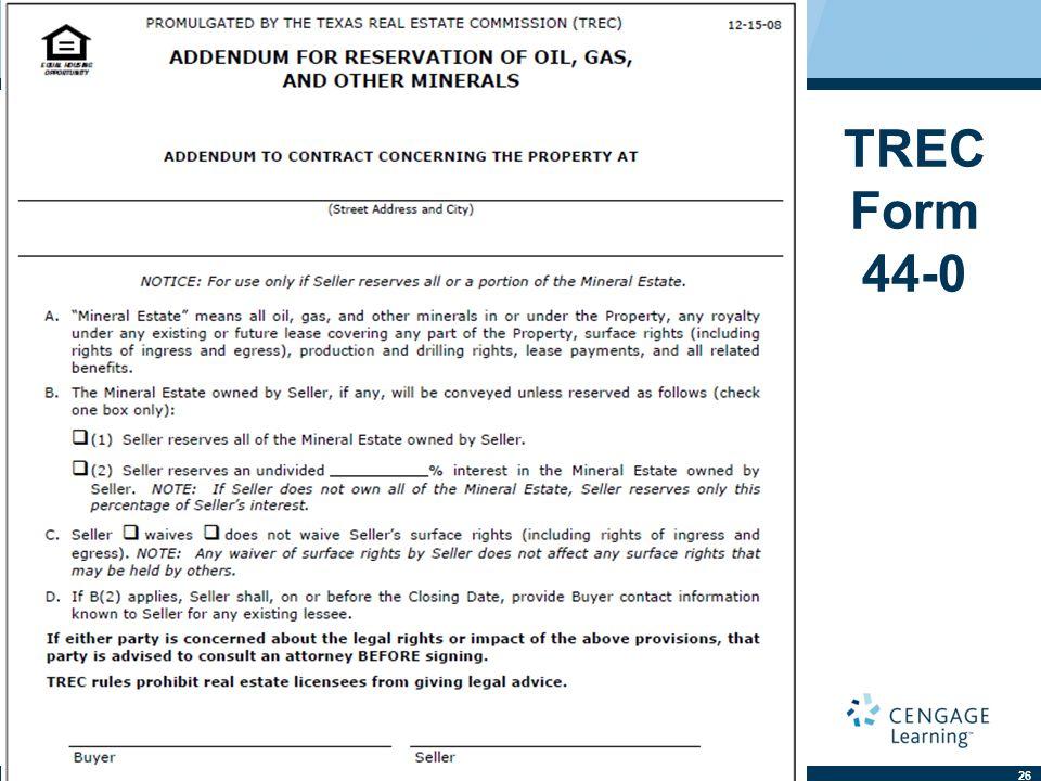TREC Form 44-0