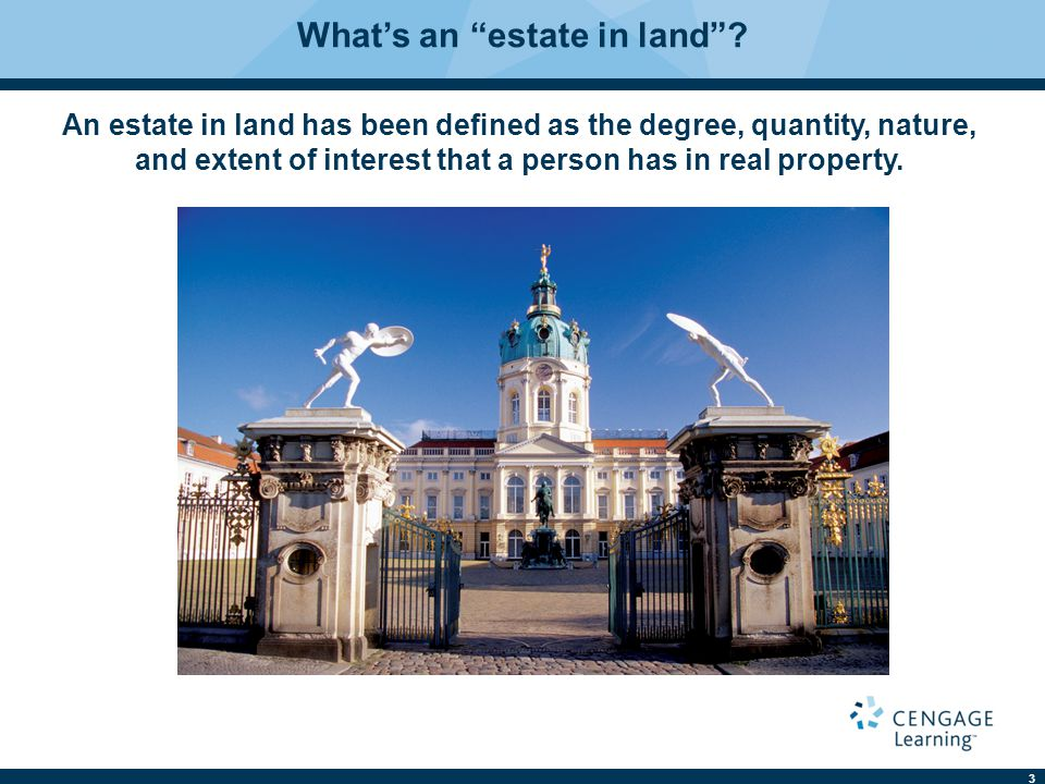 What's an estate in land
