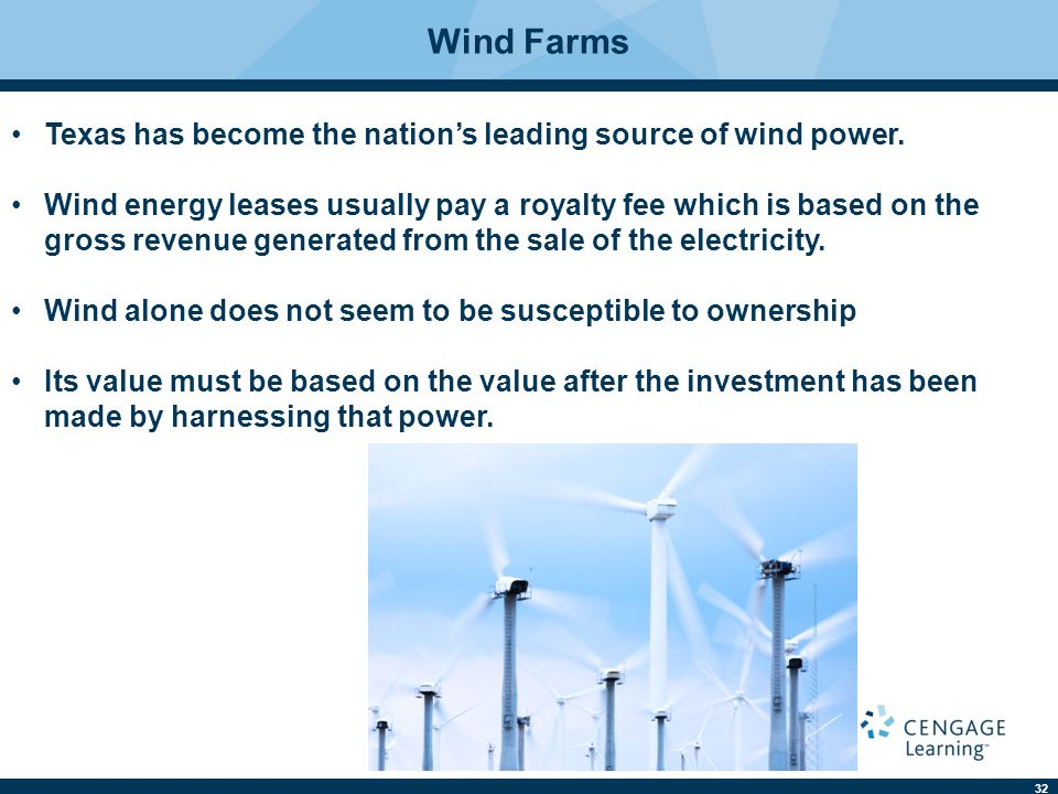Wind Farms Texas has become the nation's leading source of wind power.