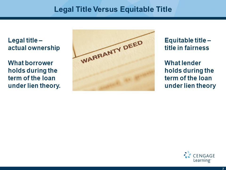 Legal Title Versus Equitable Title