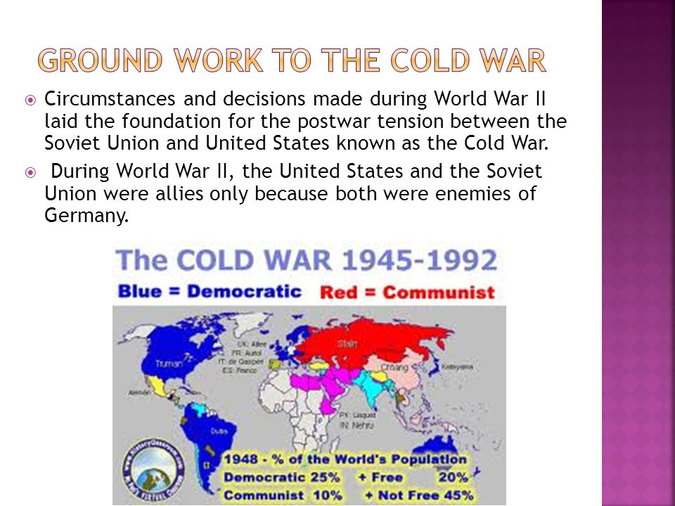 Ground Work to the Cold War