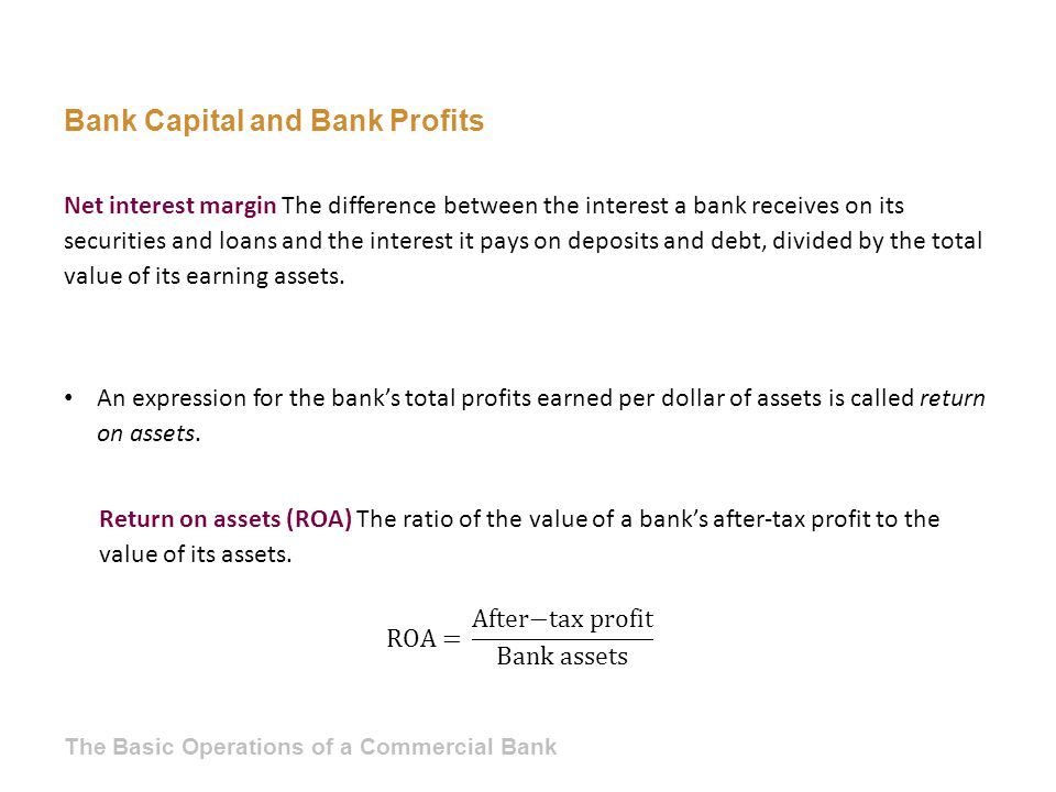 Bank Capital and Bank Profits