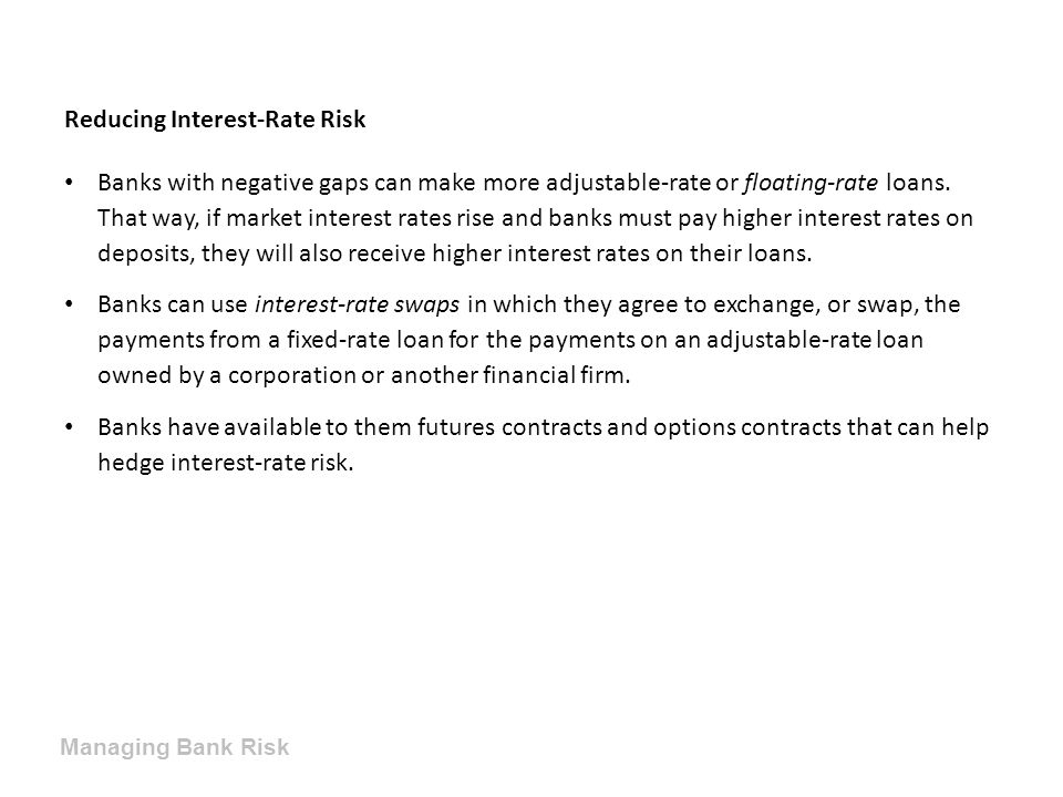 Reducing Interest-Rate Risk