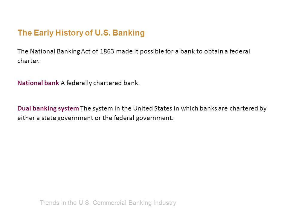Trends in the U.S. Commercial Banking Industry