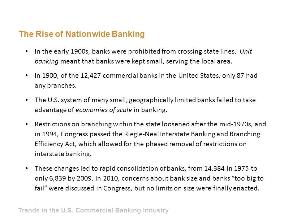 The Rise of Nationwide Banking