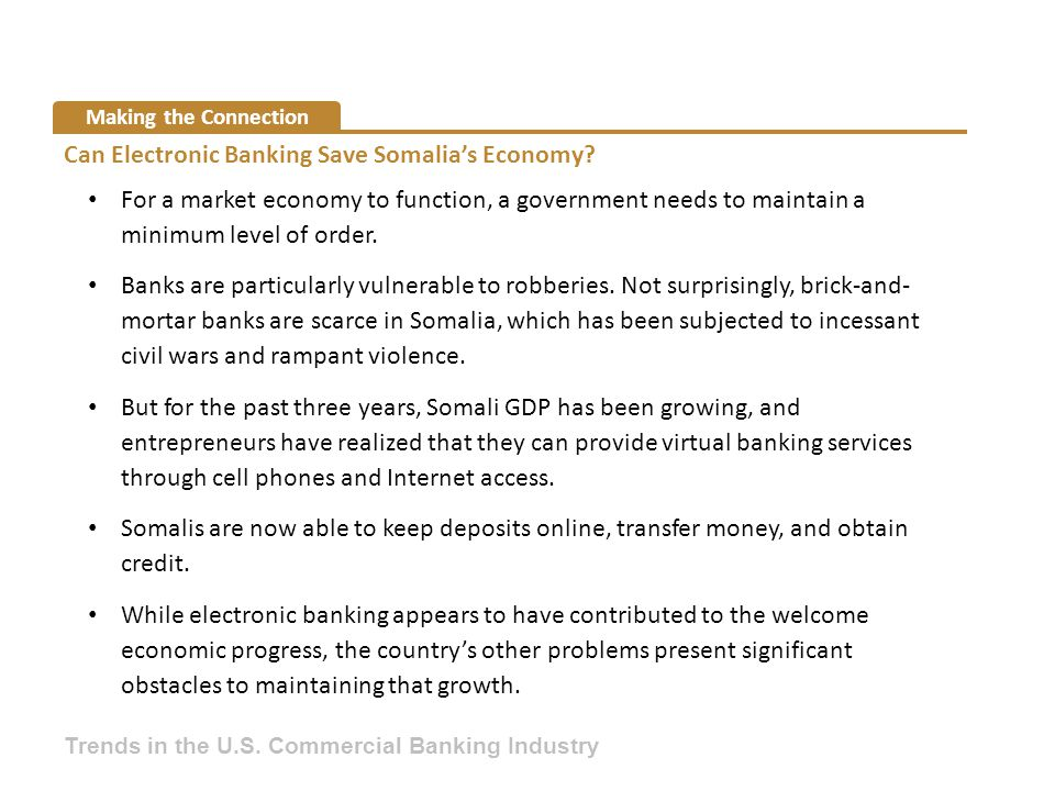 Can Electronic Banking Save Somalia's Economy