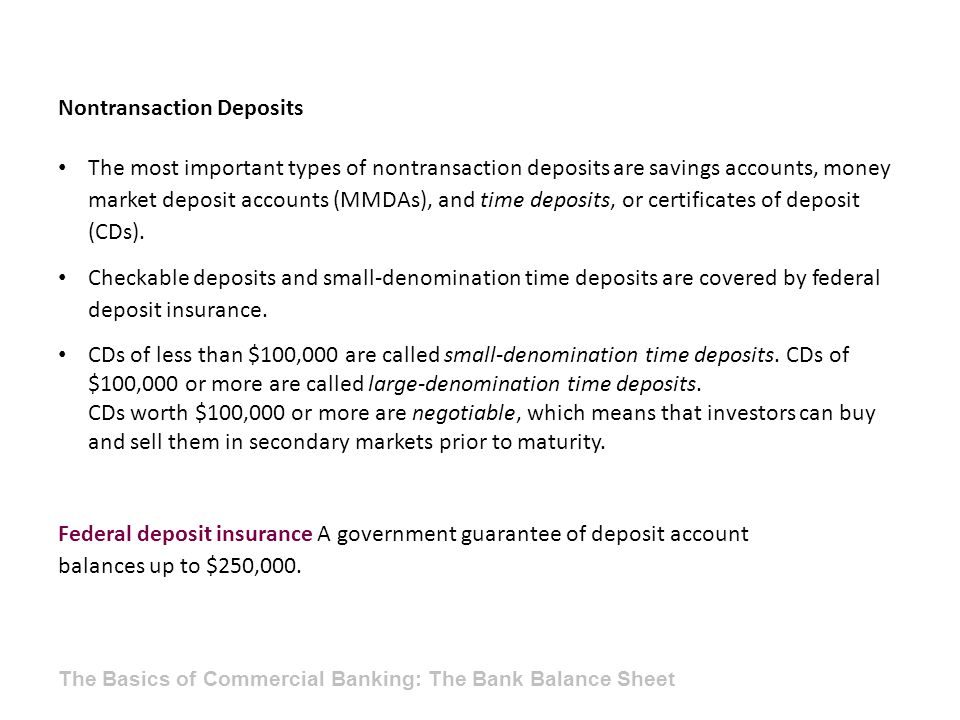 Nontransaction Deposits
