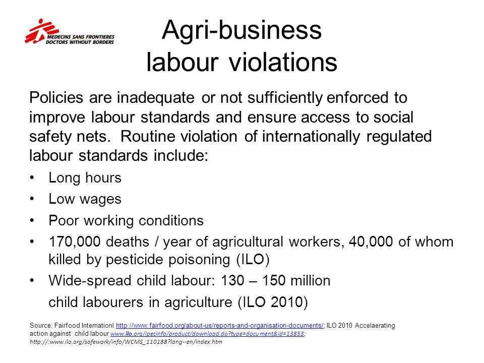 Agri-business labour violations