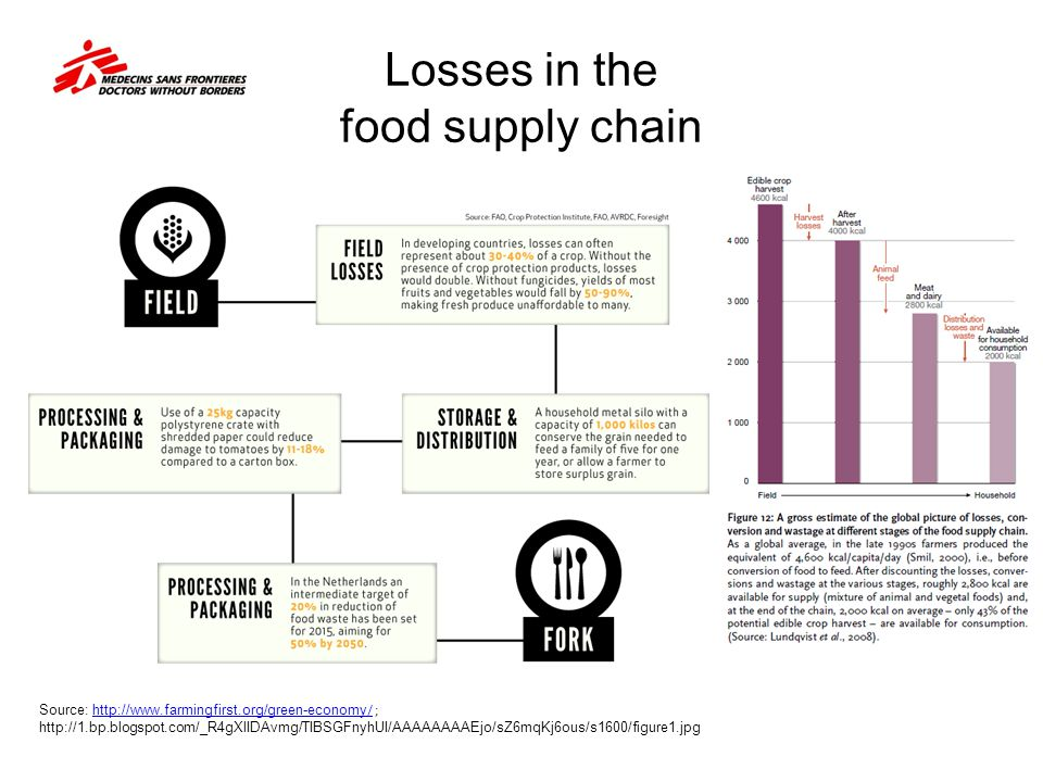 Losses in the food supply chain