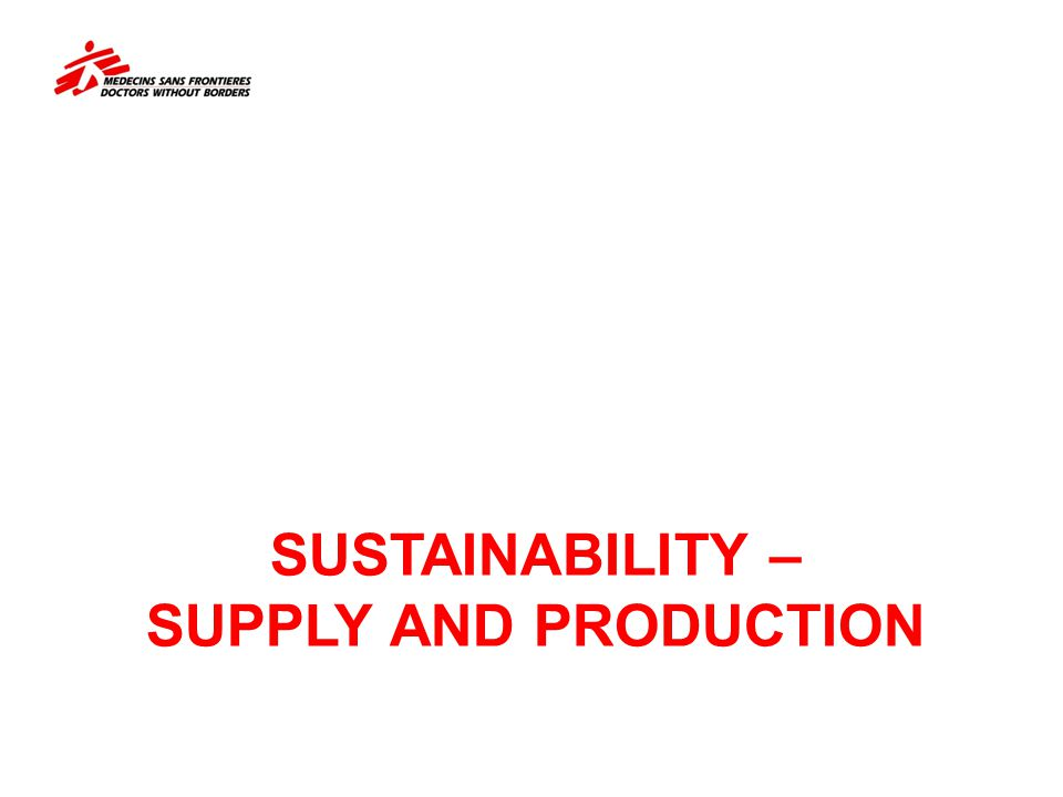 Sustainability – SUPPLY and production