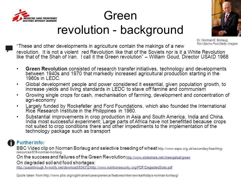 Green revolution - background