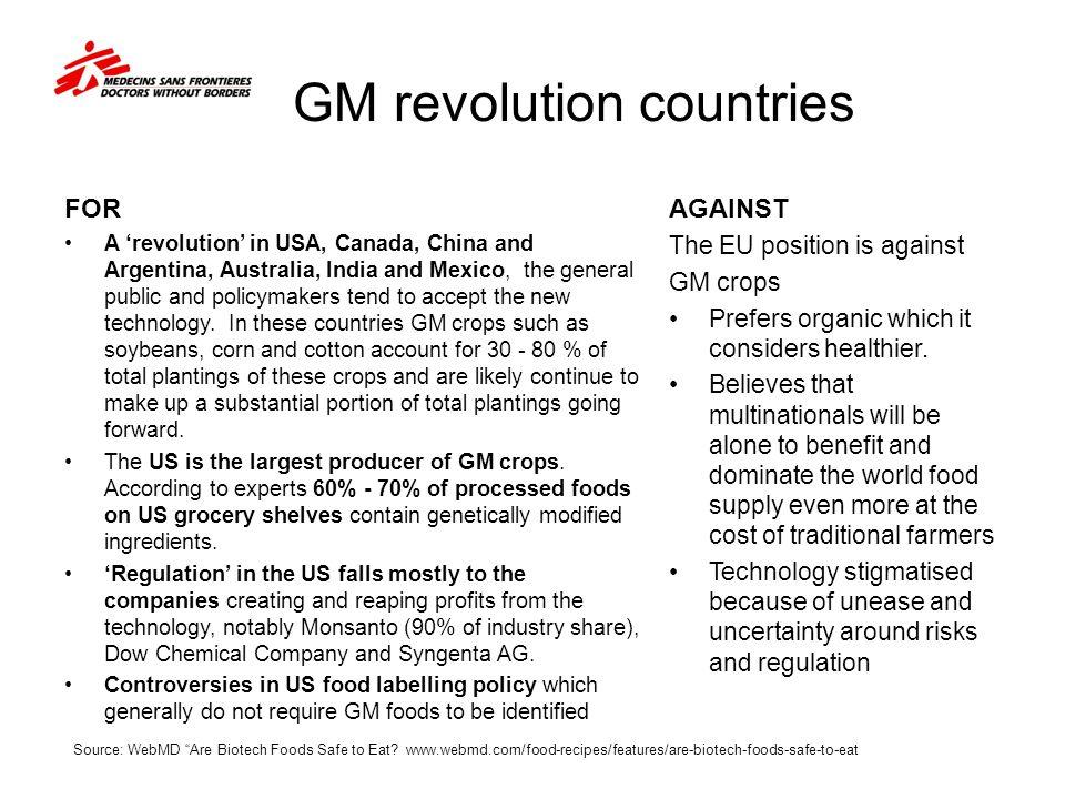 GM revolution countries