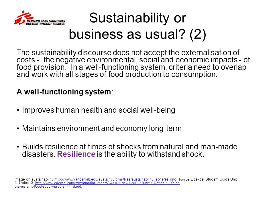 Sustainability or business as usual (2)
