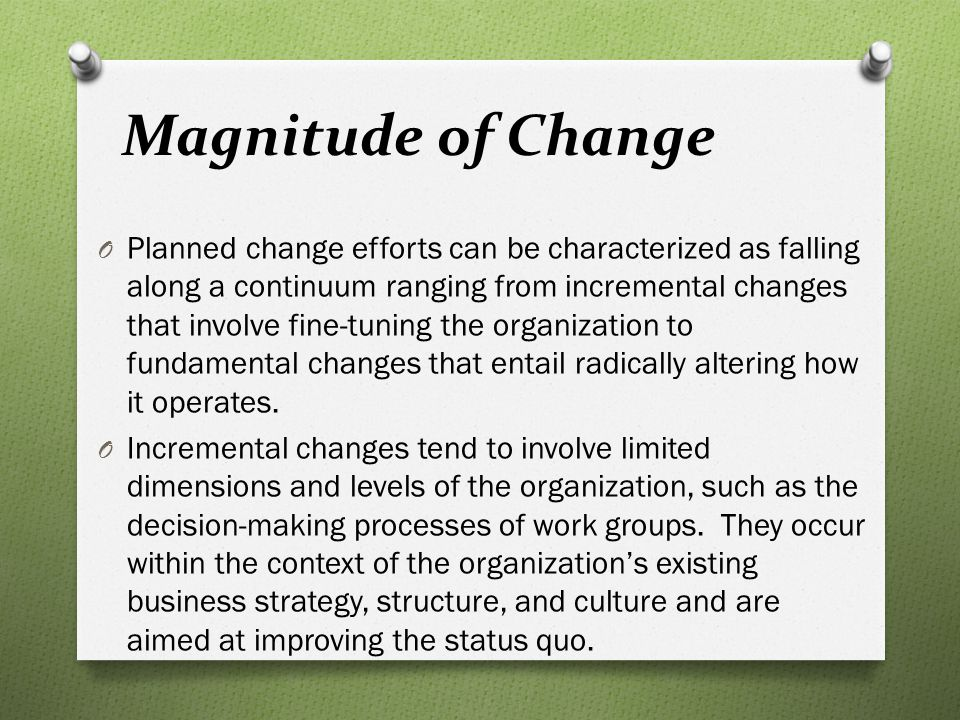 Magnitude of Change