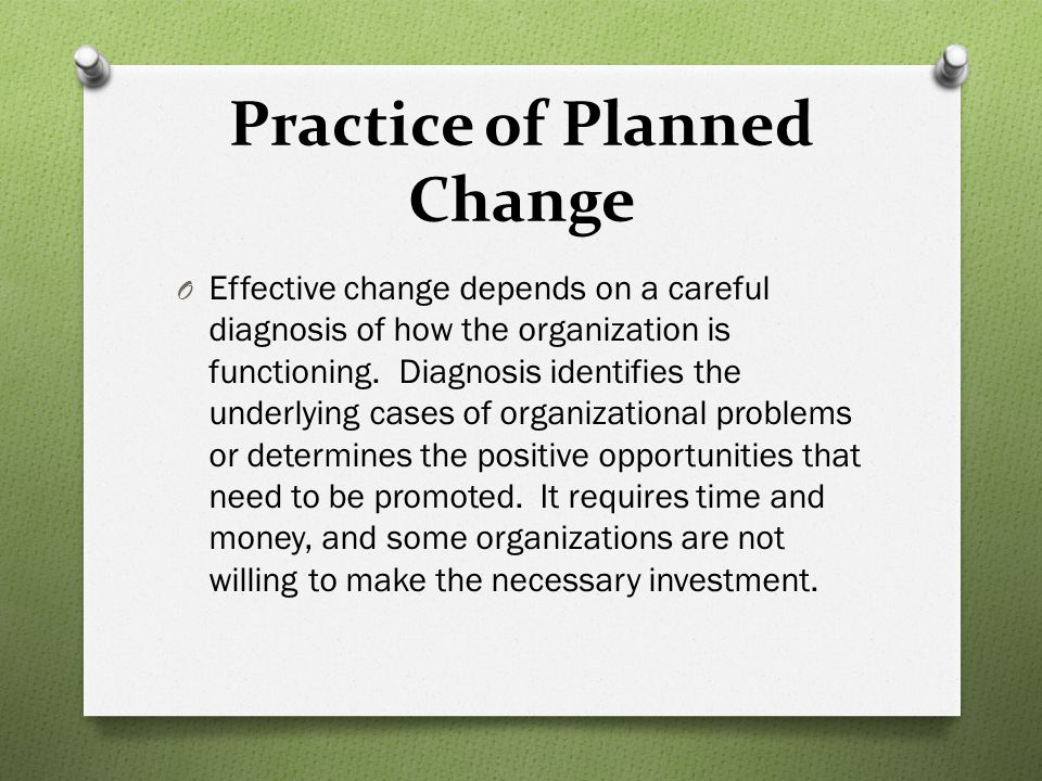 Practice of Planned Change